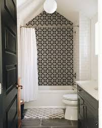 Moroccan Tile Bathroom Moroccan Tiles Very Low Bath And Shower Over Small Bathroom