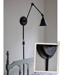 Wall Sconces With Plug In Cords Bedroom Brilliant The Painted Hive A Desk Lamp Becomes Wall Light