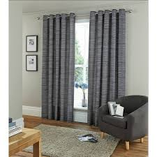 Lined Grey Curtains Amazon Com Horizontal Stripe Eyelet Curtains Fully Lined Ring