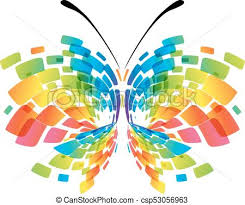 abstract colorful butterfly abstract butterfly isolated clip