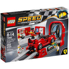 toy ferrari lego speed champions ferrari fxx k u0026 development center 75882
