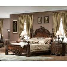 Brushed Nickel Headboard Mollai Collection 7pc Bedroom Set With Brushed Nickel Hardware And