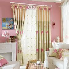 Green Kids Curtains Cute Green Bear Patterned Blackout Kids Curtains
