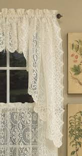 White Lace Shower Curtain With Valance by Decorations Swag Valances Black Window Valances And Swags