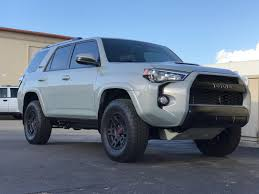 toyota 4runner lifted 2017 cement grey daily driven trd pro mild build toyota 4runner
