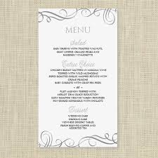 editable menu templates wedding menu card template instantly edit yourself