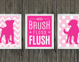 pink bathroom decor etsy