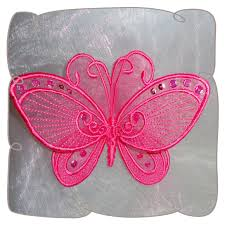 3d organza lace butterfly 5 machine embroidery pattern design