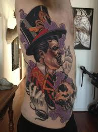 side circus tattoo by emily rose murray