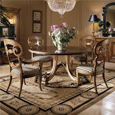 furniture fancy dining room decoration using round pedestal