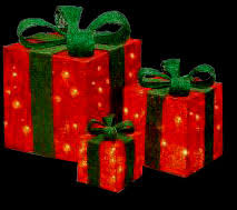 outdoor lighted presents