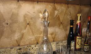 Harlequin Backsplash - harlequin backsplash with mediterranean chicago and natural finish