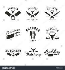 big set butchery logo templates butchery stock vector 582794143