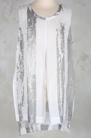 crea concept crea concept sheer tunic with split at front in spot print crea