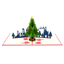 pop up tree christmas city pop up card christmas tree pop up card