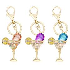 wine glass keychain wine glass cup lemon keychain keyring buy 70 discount