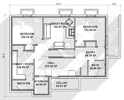 House Plans With Walk Out Basement by Walkout Basement Floor Plans Endearing House Plans With Basement
