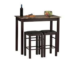 Linon Home Decor Bar Stools by Amazon Com Linon Tavern Collection 3 Piece Table Set Tables