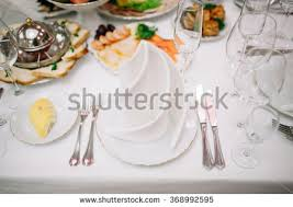 Wedding Table Setting Banquet Wedding Table Setting Plate Spoon Stock Photo 368992595