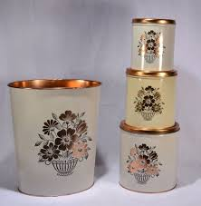 copper kitchen canister sets 85 best vtg kitchen copper color images on
