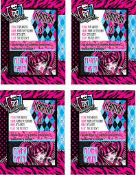monster high invitaciones cumple años pijamada party