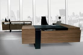 Modern Wood Office Desk Appealing Contemporary Executive Office Furniture Desk Inside