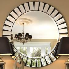 Round Mirrors Black Orchid Luxury Quartz Mirrored Coffee Table