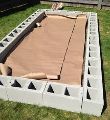 how to build a cinder block raised garden bed cinder blocks