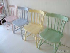 Pastel Dining Chairs Restyled Vintage Shabby Chic Pastel Dining Chairs Projects To