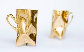 gold porcelain cups set ceramic mugs for coffee or tea