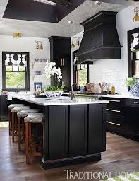 Kitchen Black Cabinets Fabulous Before And After Showhouse Kitchen Traditional Home