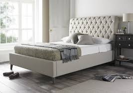 Cream Tufted Bed Bed Frames Upholstered Headboard Bedroom Sets Headboard And