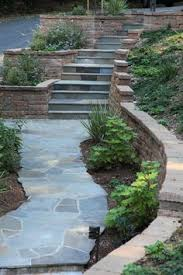 Steep Hill Backyard Ideas Brick Retaining Wall Design Ideas Pictures Remodel And Decor