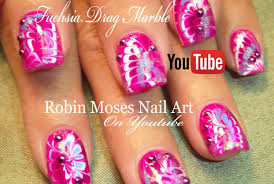 robin moses nail art neon water marble nails without the water