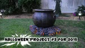 halloween cauldron with crackling fire youtube