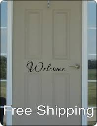 welcome wall vinyl sticker home decor front door art friend house