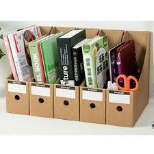 5 pcs dur papier document fichier boîte de rangement bureau étude