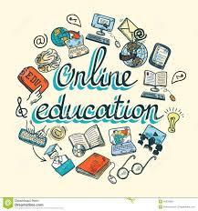 online education icon sketch stock vector image 40679096
