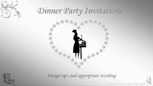 Invitation Card For Dinner Dinner Party Invitation Wording Youtube
