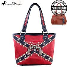 Black Confederate Flag Cfd01g 8014 Montana West Confederate Flag Collection Tote Bag