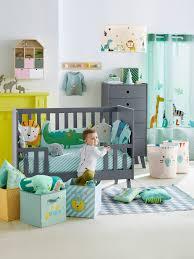rideau chambre bébé jungle rideau tamisant jungle vert clair vertbaudet