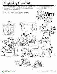 beginning sounds coloring sounds like mittens worksheet