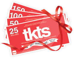 gift certificates tkts discount broadway ticket booths theatre