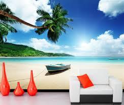 popular wallpaper palm tree buy cheap wallpaper palm tree lots papel de parede boats tropics sky beach nature photo palm trees wallpaper living room sofa