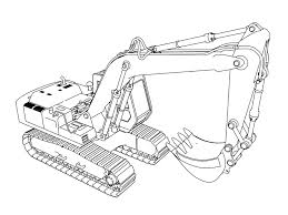 excavator coloring pages wecoloringpage