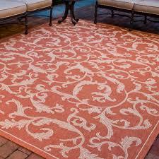 Pink Indoor Outdoor Rug Safavieh Courtyard Terracotta Natural 8 Ft X 11 Ft Indoor