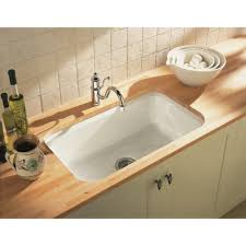 cast iron undermount kitchen sinks single bowl kohler