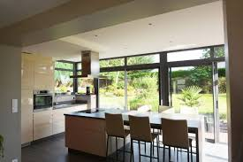 cuisine veranda extension de maison sur mesure en bretagne véranda line