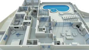 architecture 3d luxury home design and floor plan with 2 bedroom