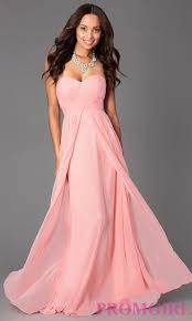 long empire waist strapless prom gown